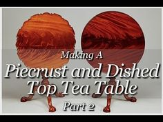 Piecrust Tea Table Building Process Part 2  by Doucette and Wolfe Furnit...