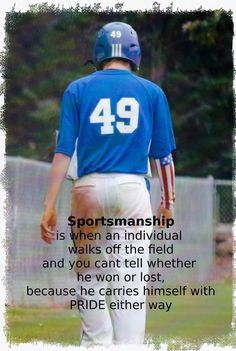 Sportsmanship is something that is lost in sports today. Teach your kids to be good sports, coachable, and humble.