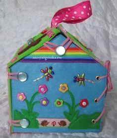 Домик-сумочка из фетра