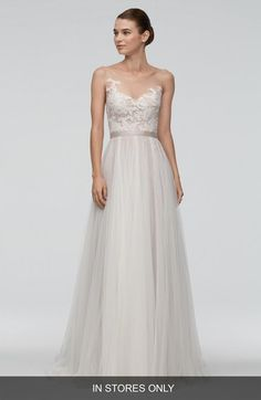 Watters 'Azriel' Illusion Neckline Lace & Net A-Line Gown (In Stores Only) available at #Nordstrom