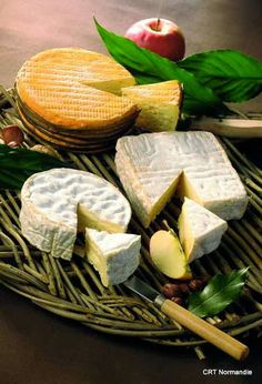Fromage Camembert, de Normandie, France.