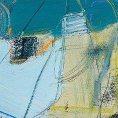 """""""Dark Tide (study)"""" by David Mankin, mixed media on paper 20 x 20cm, £350."""