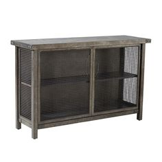 "OLLIIX - Cody Storage Sideboard Console 50x15 5/8x31.5"" Grey"