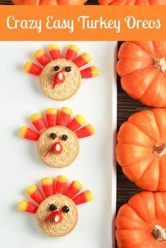 Animal Shaped Appetizers   Kids Recipe: Easy Turkey Oreos for Thanksgiving Dessert!
