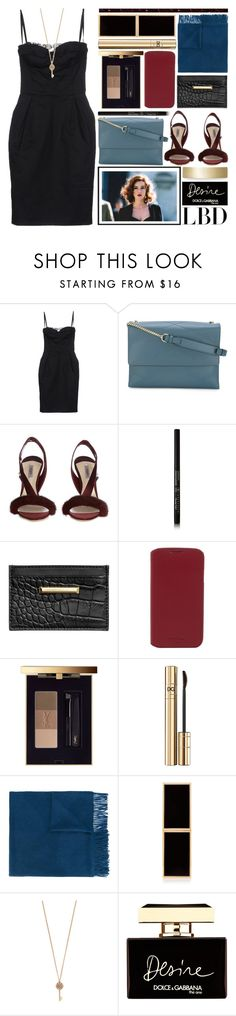 """""""Monica"""" by foundlostme ❤ liked on Polyvore featuring Dolce&Gabbana, Lanvin, Olgana, Anastasia Beverly Hills, Knomo, Yves Saint Laurent, Won Hundred, Tom Ford, Aéropostale and Chloe + Isabel"""