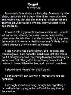 Creepypasta story: Regret