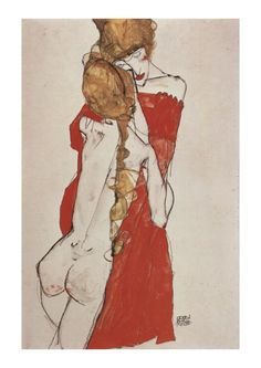 Mother and daughter by Egon Schiele. Great painting titled Mother and daughter, made by Egon Schiele. Size: x Gender: unisex. Material: Value Poster Paper (Matte). A4 Poster, Typography Poster, Poster Prints, Patrick Nagel, Gustav Klimt, Egon Schiele Drawings, Alfons Mucha, Oil Painting Reproductions, Elements Of Art