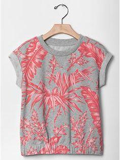 PURCHASED - Printed sweatshirt top   Gap