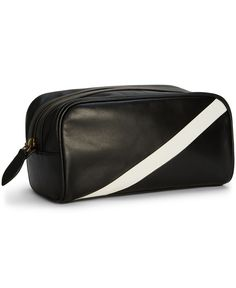 Polo Ralph Lauren Leather Banner-Stripe Shaving Bag Bag Men b5cc8dbafdcdd