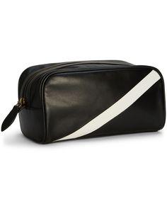 Polo Ralph Lauren Leather Banner-Stripe Shaving Bag Bag Men, Mens Trends,  Wash 11ae5d0965