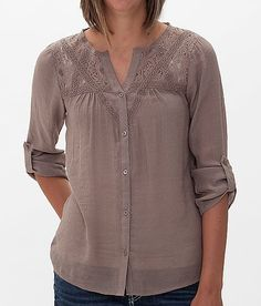 Daytrip Lace Shirt at Buckle.com