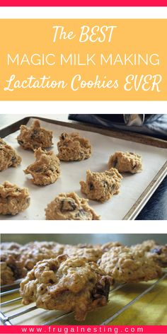 Homemade Oatmeal Lactation Cookies...these are literally the BEST magic milk making cookies EVER!  Sooo delicious! Awesome for breastfeeding & check out her site for more advice on increasing milk supply, etc.