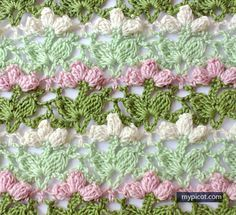 MyPicot | Free crochet patterns ~ k8~   would be a pretty table runner!