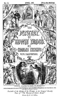 Wrapper (Cover Design) for Edwin Drood by Charles Allston Collins, 1870