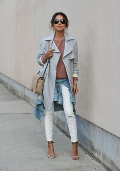 Light layers are smart for keeping up with spring's temperature swings but also an easy way to add interest to basic pieces as Sincerely Jules did. #SpringStyle #Fashion