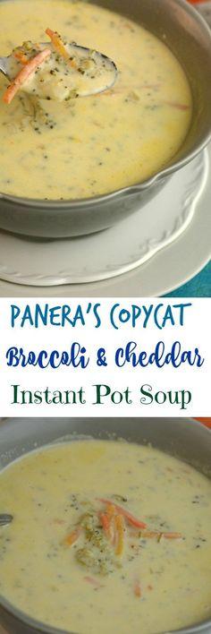 Panera's Copycat Broccoli & Cheddar Instant Pot Soup