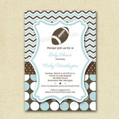 couples co ed football baby shower invitations lu s baby shower