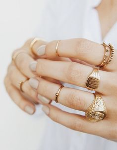 Signet Rings | My recent infatuation with signet rings has led me down a deep rabbit hole, tracing it's fascinating history all the way back to 1800BC in Ancient Egypt. For centuries, signet rings have been used to signify authority and seal business transactions, with symbols engraved in stone or etched in metal