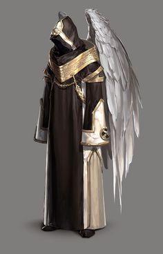 ArtStation - Illustration, Han AhReum I Wings I Fantasy Fantasy Character Design, Character Design Inspiration, Character Concept, Character Art, Concept Art, Foto Fantasy, Dark Fantasy, Fantasy Armor, Medieval Fantasy