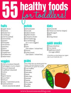 Toddler Nutrition {plus a FREE printable including 55 healthy foods for toddlers!} | Houston Moms Blog