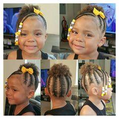 Black Baby Girl Hairstyles, Little Girls Natural Hairstyles, Toddler Braided Hairstyles, Little Girl Braid Hairstyles, Natural Hairstyles For Kids, Natural Hair Styles, Easy Hairstyles, Children Hairstyles, Halloween Hairstyles