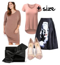 """""""plus size casual look"""" by bibila on Polyvore featuring Zenana, Semilla, Victoria Beckham, women's clothing, women, female, woman, misses, juniors and plus size dresses"""