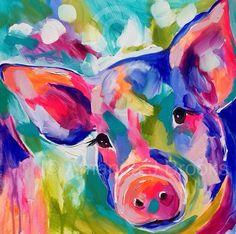 Cute piggy print for pig lovers