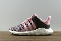 new arrival e1543 15d65 Adidas Equipt EQT Support Boost 9317 Glitch Wonder Pink Black White Bz0583  Popular Shoe Latest Adidas