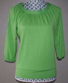 Talbots petites green 3/4 sleeve shirt womens size P #Talbots #Pullover #Casual