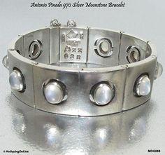 Antonio #Pineda 970 #Silver #Moonstone #Bracelet Rare by AntiquingOnLine on Etsy at www.etsy.com/listing/561870661/Antonio-Pineda-silver-moonstone-bracelet