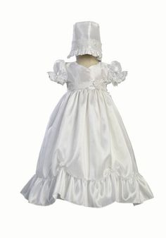 Girls FELTMAN BROS white smocked Christening gown 0-3-6-9-12 NWT dress bonnet