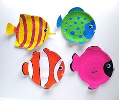 Ocean Week: Tropical Reef Fish are fun animal crafts for kids that are great as summer activities for kids or classroom crafts for decorating during a lecture on the ocean. Dive into crafts for kids with these amazing tropical fish made from paper plates. Kids Crafts, Animal Crafts For Kids, Summer Crafts, Preschool Crafts, Projects For Kids, Art For Kids, Craft Projects, Arts And Crafts, Craft Ideas
