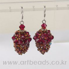 Free pattern for beautiful beaded earrings