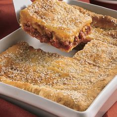 Sloppy Joe Squares - this was super easy, & my family all loved it! We'll be making this again. :)