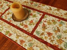 Quilted Fall Table Runner Autumn Leaves Table Runner by susiquilts
