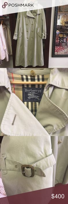 Burberry Trench Coat Rare Vintage Burberry Trench Coat ! In Excellent Condition ! There are many replicas of the Trendy Trench Coat but Burberry is the originator of the Trench Coat . Manufactured in England for the soldiers. Very stylish for a man or woman Burberry Jackets & Coats Trench Coats