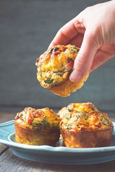 9. Crustless Mini Quiche #lowcarb #breakfast #recipes http://greatist.com/eat/low-carb-recipes-easy-and-delicious-breakfast-recipes