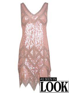 Robe style années folles rose à sequins - Robes de soirée - Rayon Robes - Miss Selfridge France