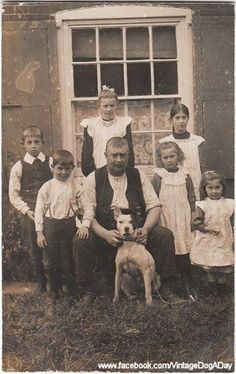 Family with their dog. UK c.1910