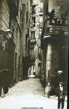 A fantastic photo, so atmospheric. I wonder what story the young boy and woman could tell. Carrer Manresa (C. Barcelona City, Barcelona Catalonia, Antoni Gaudi, Magnum Photos, Old City, City Streets, Best Cities, Wanderlust Travel, Photos Du