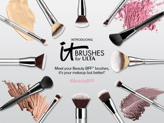 Whether you're a seasoned pro or a beauty newbie, our NEW & EXCLUSIVE for ULTA Brushes are sure to become your new Makeup Stuff, I Love Makeup, Kiss Makeup, Beauty Stuff, Beauty Make Up, Makeup Tools, True Beauty, Makeup Ideas, Hair Makeup