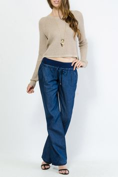 Denim Chambray Lounge Pants $17.99