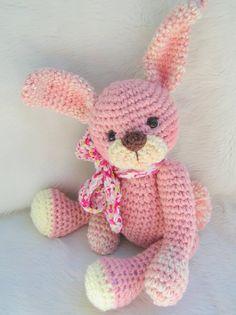 Huggable Bunny Crochet Pattern by Teri Crews PDF by WoolandWhims, $4.95