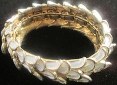 Boucher Signed White Enamel Expendable Bracelet. : Lot 197