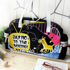 Fashion And Lovely Say No To The Boring Canvas Shoulder Bag Handbag School  Bag Hand-painted Bag Free Shipping 2298fe1982f