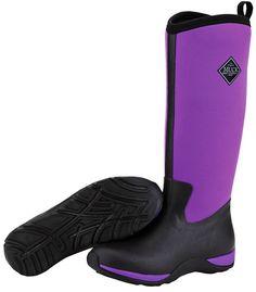 Muck Boots Women's Arctic Adventure Solids Winter Boot - Black/Purple (WAA-500) 1
