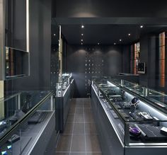 35 Ideas For Jewerly Store Design Jewellery Display Simple Jewellery Shop Design, Jewellery Display, Jewellery Showroom, Shop Interior Design, Retail Design, Visual Merchandising, Design Café, Kiosk Design, Retail Interior