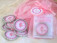strawberry shortcake birthday party favors by littleprincessbling, $25.00