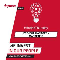 #HotJobThursday: If you are into marketing, a strong team player, born multi-tasker and love managing projects we could be looking for you!   The marketing team has an empty project management position and you could be the one filling it! Don't hesitate and apply here: http://www.tipico-careers.com/vacancy/project-manager-marketing/   #Career #Opportunity #Vacancy #WeInvestInOurPeople