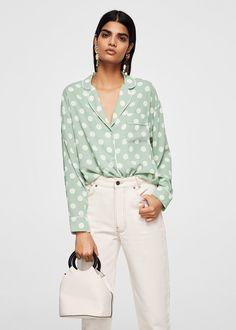Blusa lunares - Camisas de Mujer | MANGO México